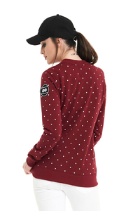 LUCKY DICE BLUZA DAMSKA DOT BABE BORDO