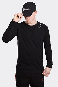 STOPROCENT LONGSLEEVE BASE SMALLTAG MELANGE BLACK