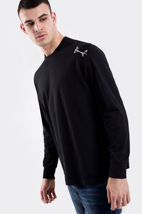 STOPROCENT LONGSLEEVE SMALLTAG BLACK