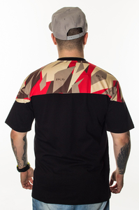 EL POLAKO T-SHIRT HALF TRIANGLE MORO RED
