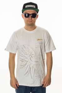 PATRIOTIC T-SHIRT EAGLY SHADOW WHITE