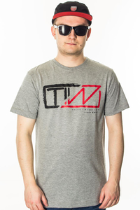 TIW T-SHIRT LOGO GREY