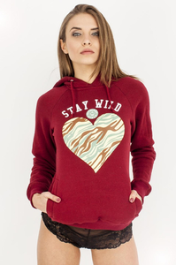 EP.GIRLS BLUZA STAY WILD BORDO