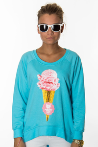 EP.GIRLS BLUZA LODZIK L.BLUE