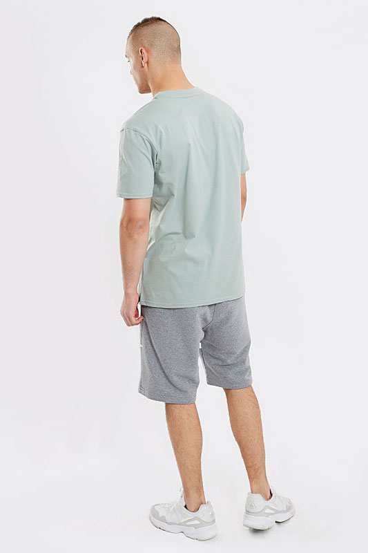 STOPROCENT T-SHIRT TMS BASE SMALLTAG GREY GREEN