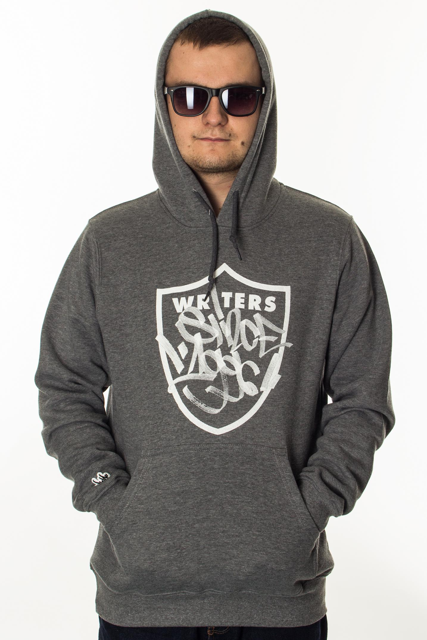 JWP BLUZA KAPTUR WRITERS GREY