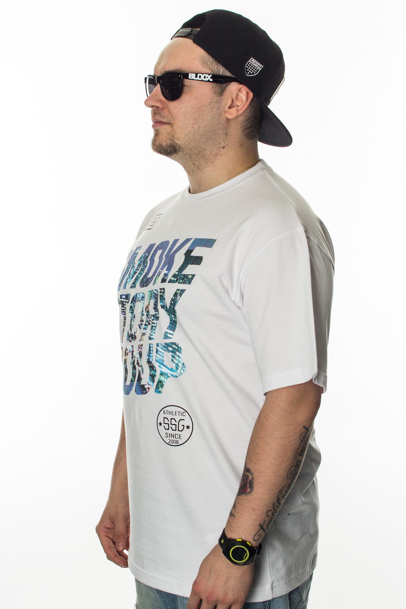 SMOKE STORY GROUP T-SHIRT SMG SLANT WHITE