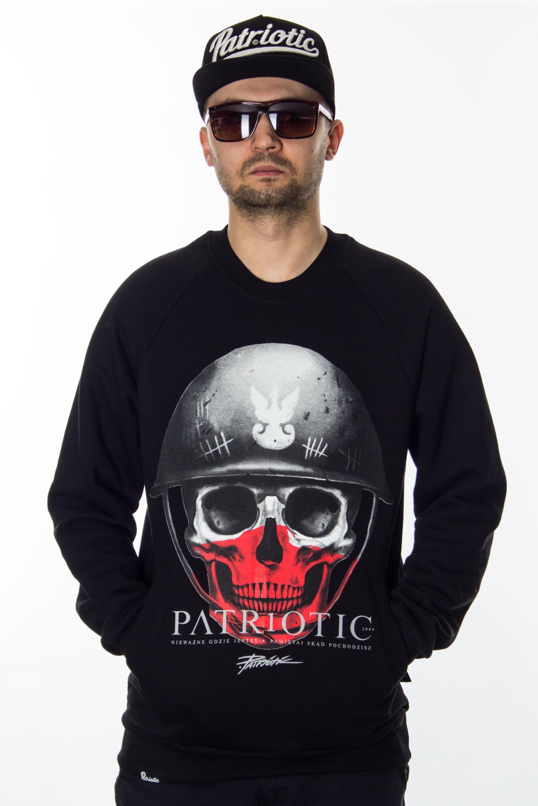 2632b8c805569 PATRIOTIC BLUZA SKULL NEW BLACK
