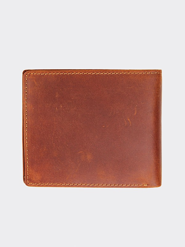 STOPROCENT PORTFEL CUTTAG BROWN LEATHER